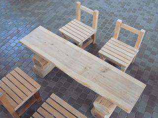 椅子、テーブル(木製)
